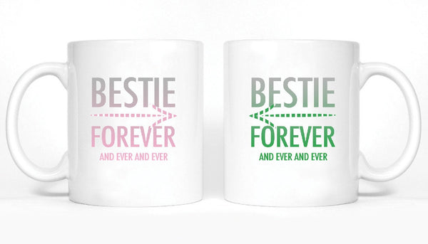 Bestie Forever and Ever and Ever Girl BFFS Mugs