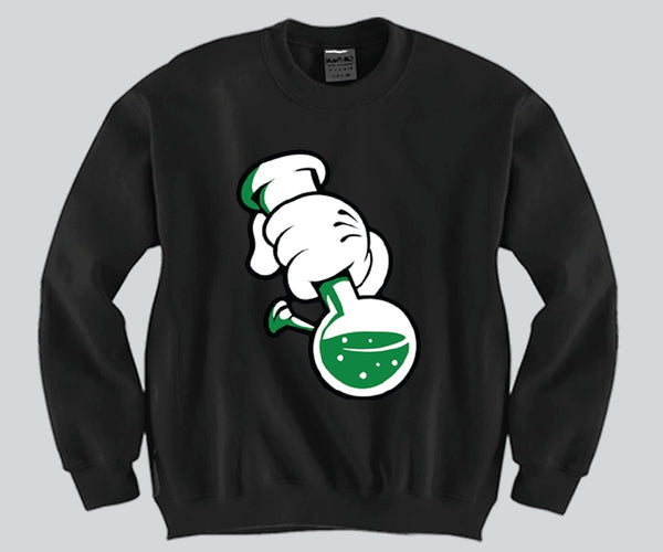 Bong Mickey Mouse hands Unisex Crewneck Funny and Music
