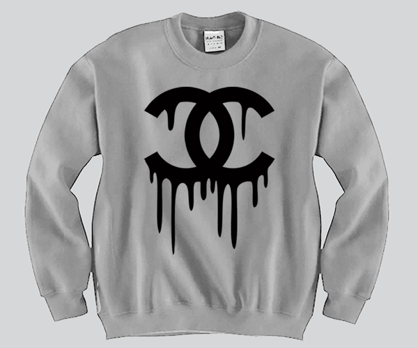 Chanel Dripping Crewneck Funny and Music