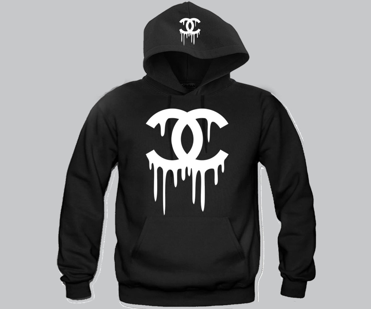 chanel sweatshirt. chanel dripping hoodie sweatshirt
