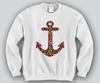 Cheetah Anchor Crewneck Funny and Music