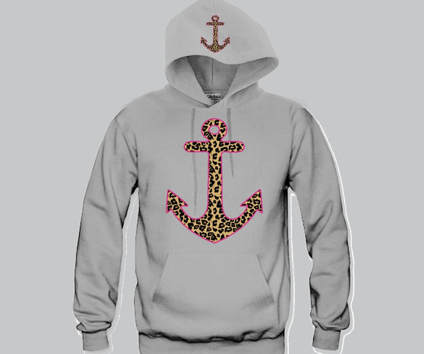 Cheetah Anchor Hoodie Funny and Music