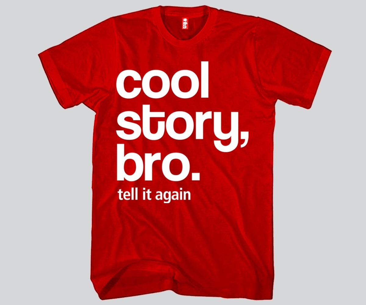 cool story bro tell it again unisex t shirt funny and music
