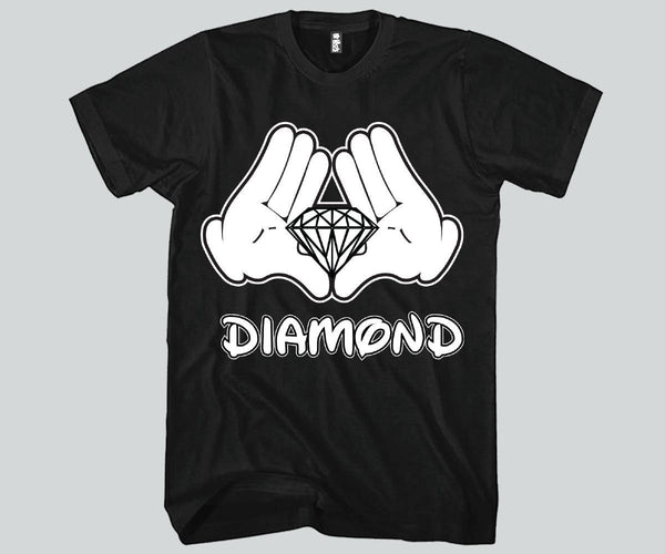 Diamond Hands Mickey Mouse Unisex T-shirts Funny and Music