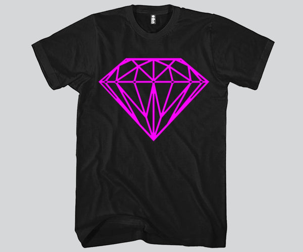 Diamond Pink Print Unisex T-shirt Funny and Music