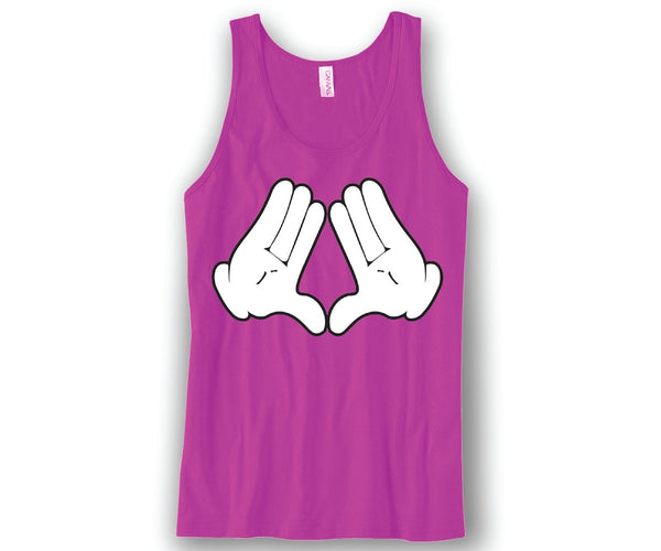 Diamond Sign Hands Mickey Unisex Tank Top Funny and Music