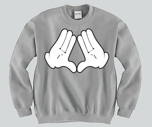 Diamond Sign Mickey Mouse hands Unisex Crewneck Funny and Music