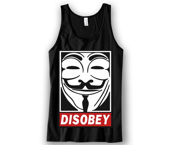 Disobey Unisex Tank Top Funny and Music