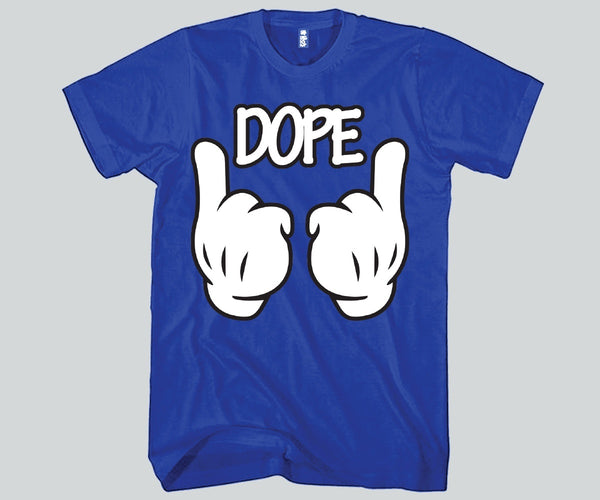 DOPE Hands Mickey Mouse Unisex T-shirts Funny and Music
