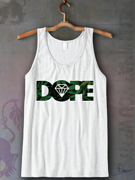 Dope Leaf Unisex Tank Top Funny and Music