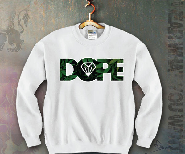 Dope Leafs Unisex Crewneck Funny and Music