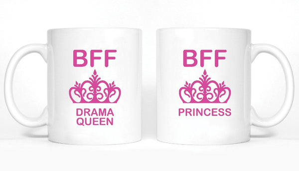 Drama Queen and Princess Girl BFFS Mugs