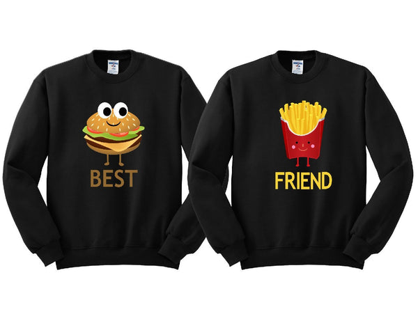 Hamburger and French Fries Girl BFFS Sweatshirts