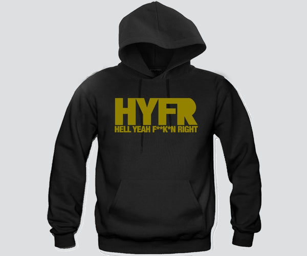 HYFR Unisex Hooded Sweatshirt Funny and Music
