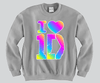 I Heart 1D Rainbow Colors Unisex Crewneck Funny and Music
