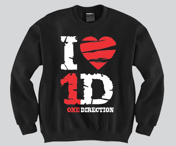 I Heart 1D Unisex Crewneck Funny and Music