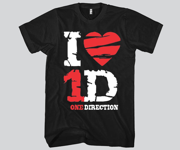 I Heart 1D Unisex T-shirt Funny and Music