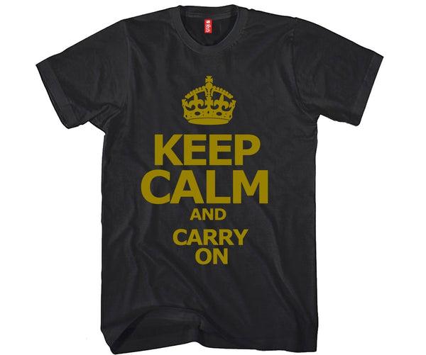 Keep Calm and Carry On Unisex T-shirt Funny and Music