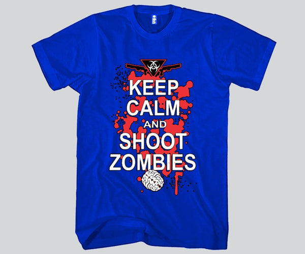 Keep Calm and Kill Zombies Unisex T-shirt Funny and Music