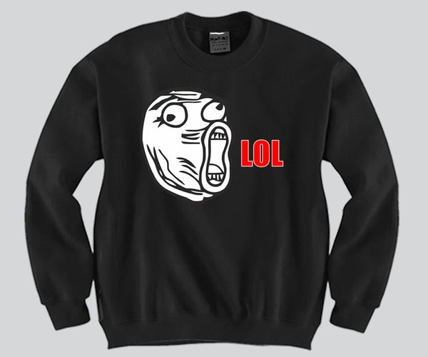 LOL Face Crewneck Funny and Music