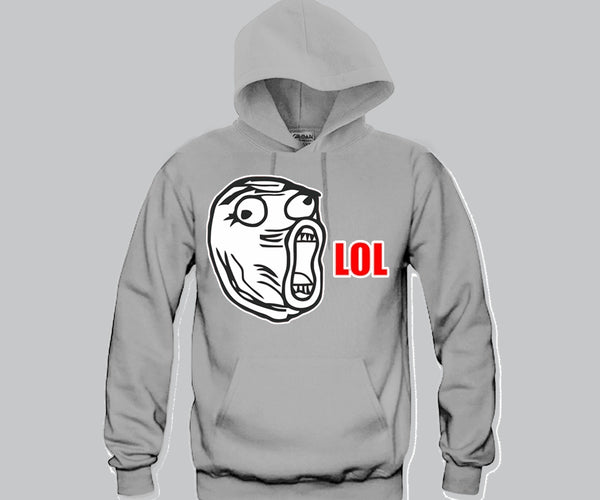LOL Face Hoodie Funny and Music