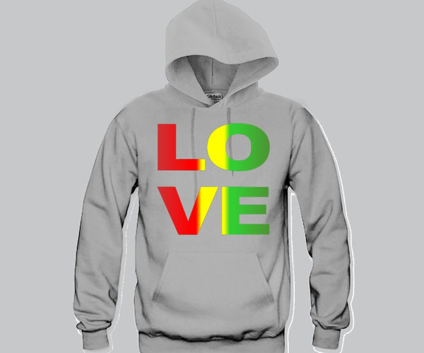 Love Rasta Colors Hoodie Funny and Music
