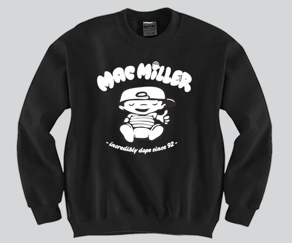 Mac Miller Unisex Crewneck Funny and Music