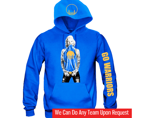 Marilyn Monroe Golden State Warriors Hoodie