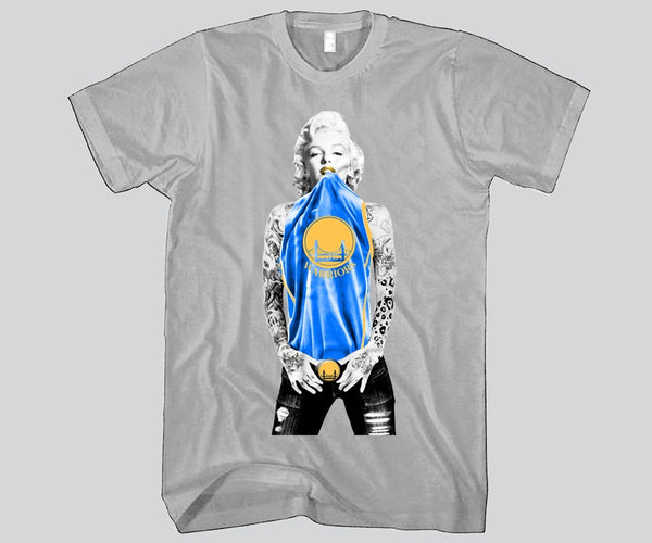 Marilyn Monroe Golden State Warriors Unisex T-shirt Sports Clothing