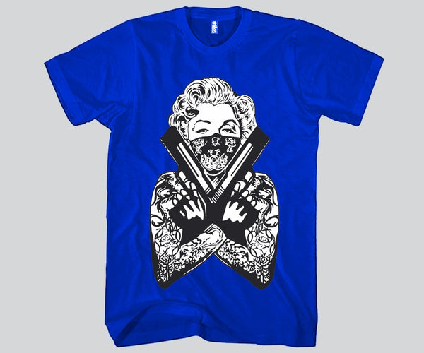 Marilyn Monroe Holding Guns T-shirt