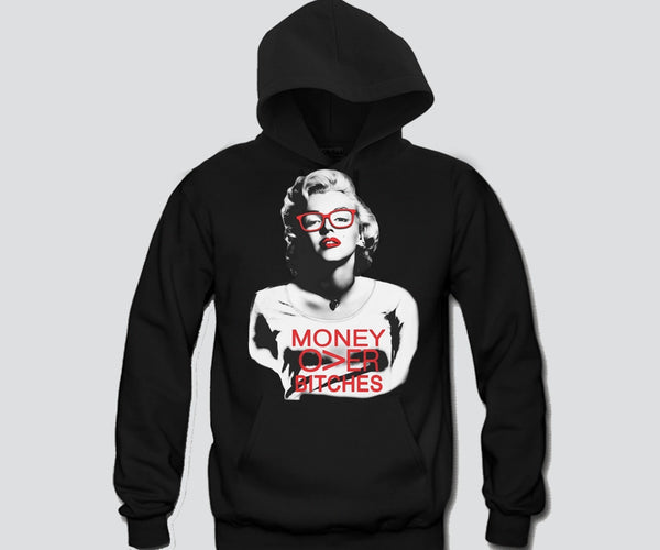 Marilyn Monroe Money Over Bitches