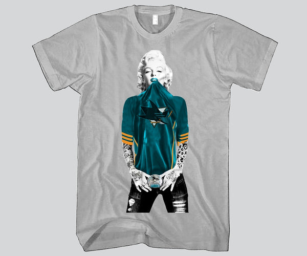 Marilyn Monroe San Jose Sharks Unisex T-shirt Sports Clothing