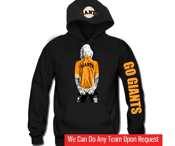pretty nice fb7c4 7b481 Marilyn Monroe SF GIANTS Hoodie