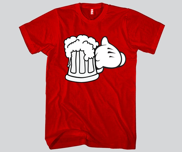 Mickey Beer Mug Unisex T-shirts Funny and Music