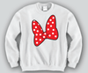 Minnie Bow Unisex Crewneck Funny and Music