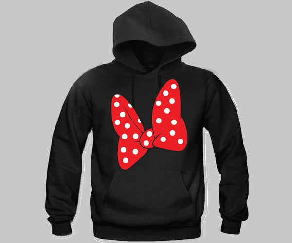 Minnie Bow Unisex Hooded Sweatshirt Funny and Music