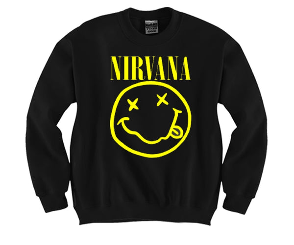 Nirvana Unisex Crewneck Funny and Music