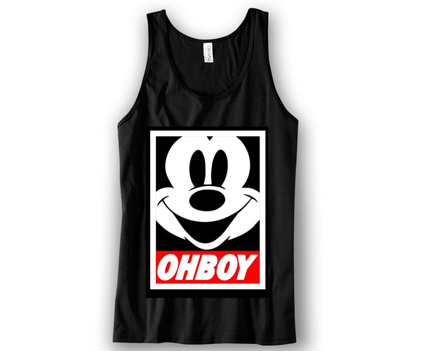 OHBOY Unisex Tank Top Funny and Music