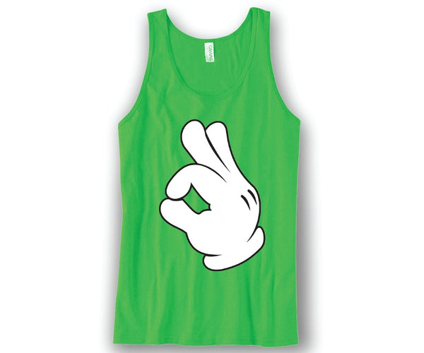 OK Hands Mickey Unisex Tank Top Funny and Music
