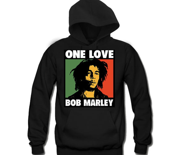 One Love Bob Marley Unisex Hooded Sweatshirt Funny and Music