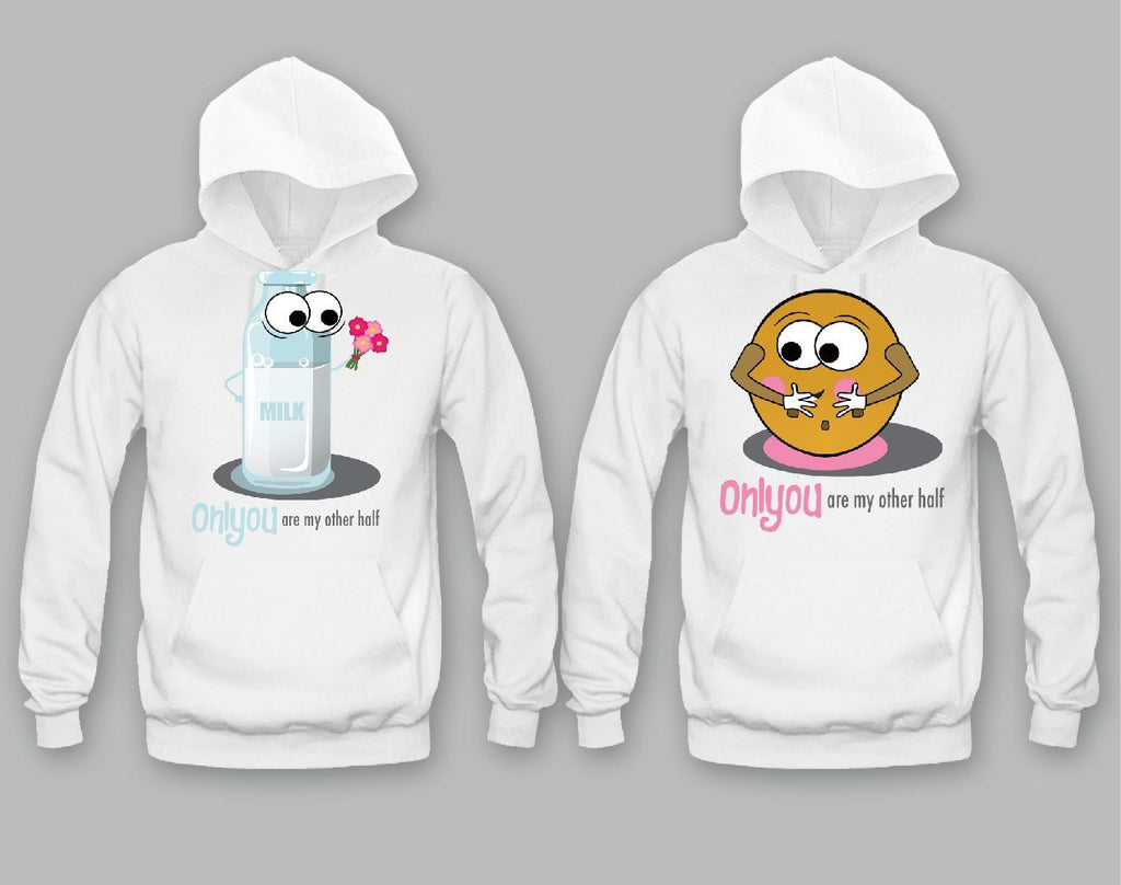 Only You Are My Other Half Milk And Cookie Unisex Couple Matching