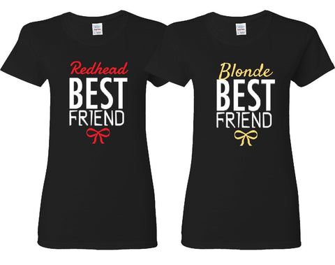 Redhead and Blonde Best Friends Girl BFFS T-shirts