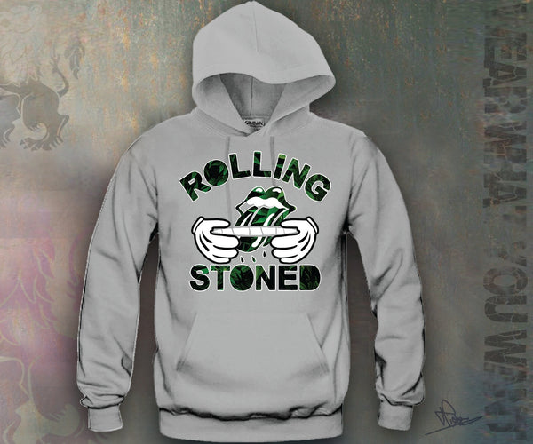 Rolling Stones Leafs Hooded Sweatshirt Funny and Music