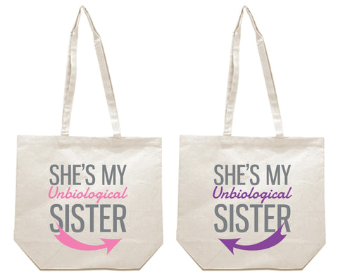 She's My Un Biological Sister Girl BFFS Canvas Tote Bag