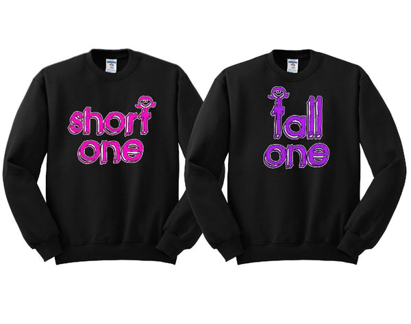 Short One Tall One Girl BFFS Sweatshirts