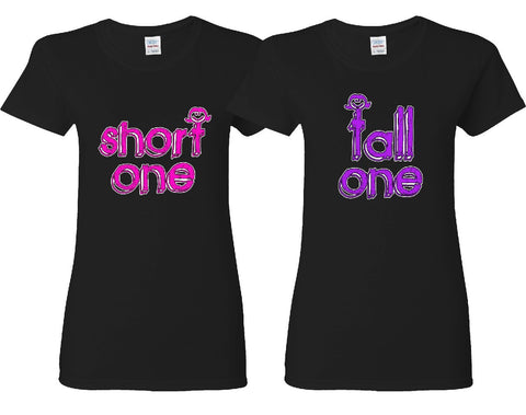 Short One - Tall One Girl BFFS T-shirts