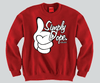 Simply Dope Mickey Mouse hands Unisex Crewneck Funny and Music