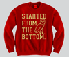 Started From The Bottom Gold Unisex Crewneck Funny and Music