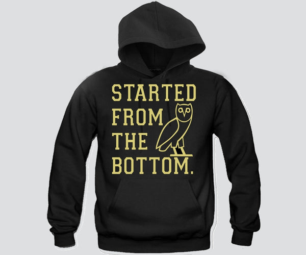 Started From The Bottom Unisex Hooded Sweatshirt Funny and Music