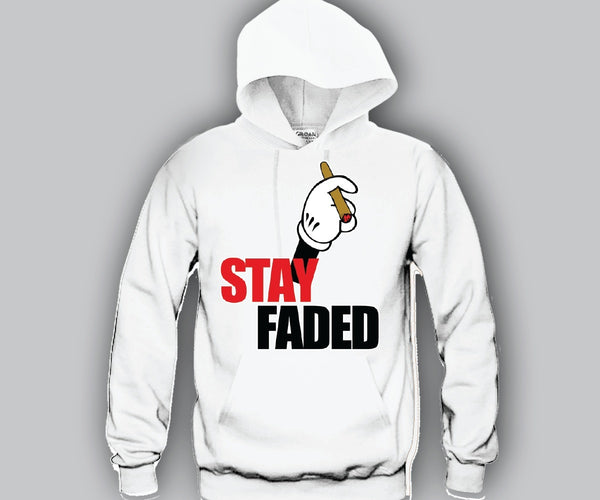Stay Faded Mickey Hands Unisex Hooded Sweatshirt Funny and Music